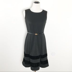 NWT Calvin Klein Belted Fit and Flare Dress